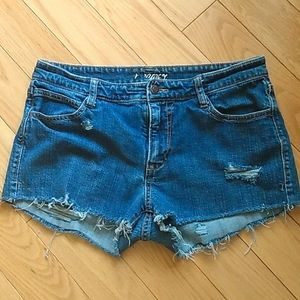 ❤️ Distressed jeans shorts